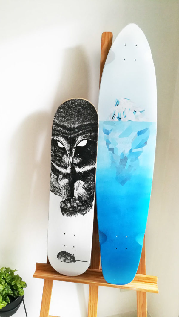 illustrations skate peinture poska surf