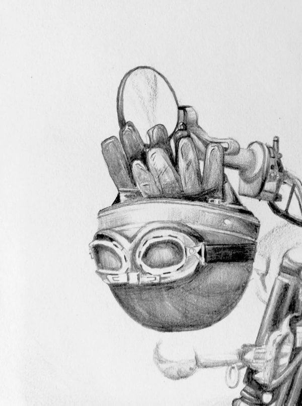 illustrations moto dessin drawing draw