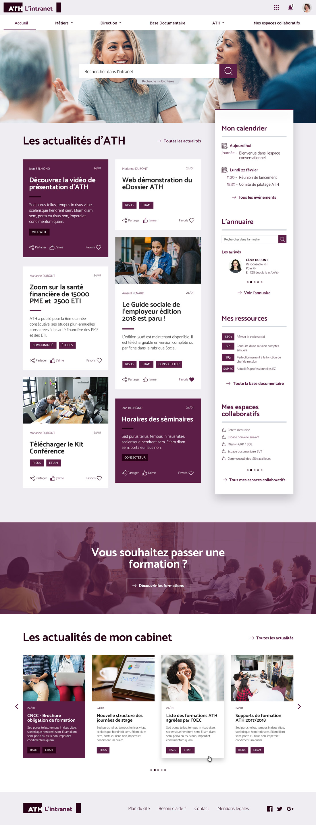 ATH intranet jalios webdesign