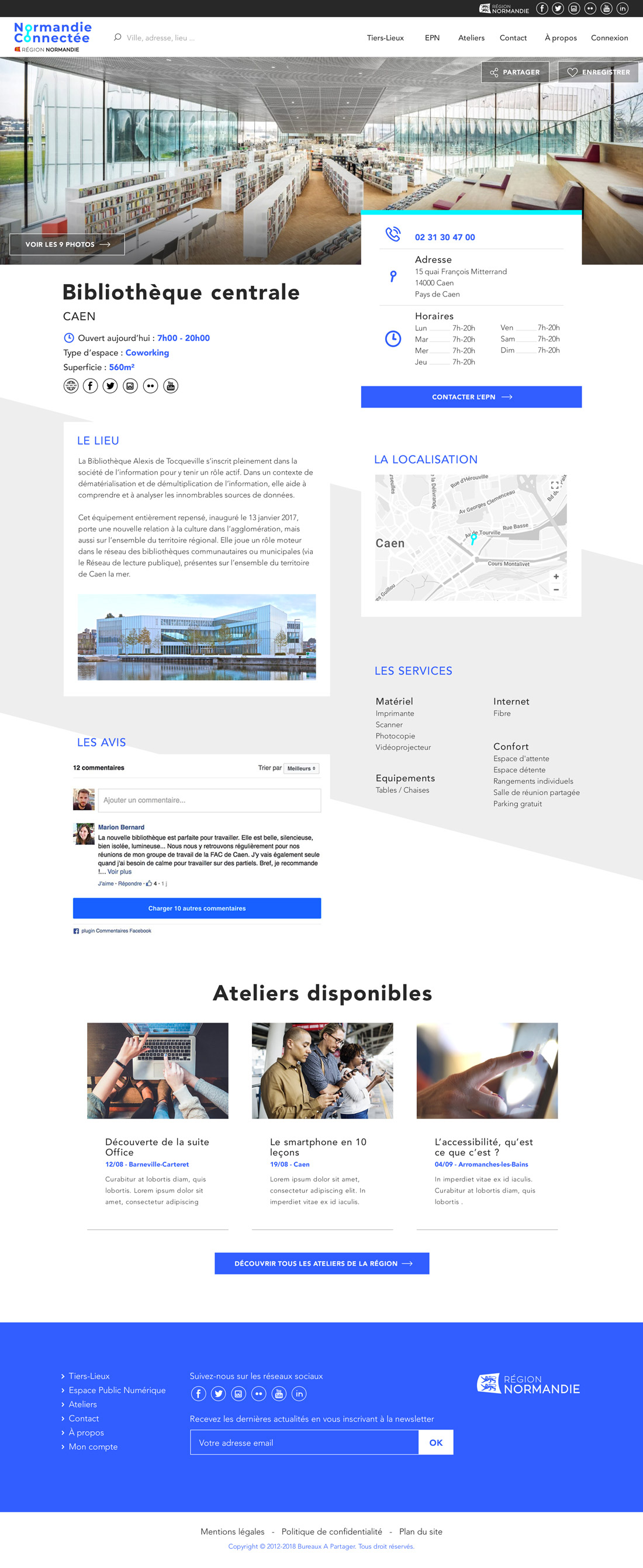 Normandie connecter design page fille